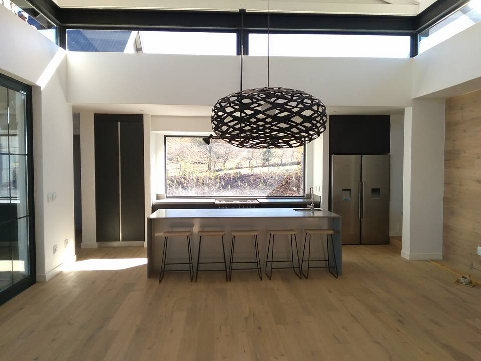 Ceaserstone Sleek Concrete Kitchen in Gowrie Farm 2