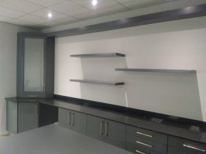 New office areas for MSCP Trans using #Ceaserstone Jetblack