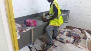 NPA building Pietermaritzburg - Vanities in Quartz