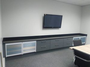 New office areas for MSCP Trans using #Ceaserstone #Jetblack